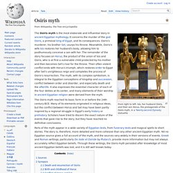 Myth of Osiris and Isis
