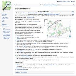 DE:Osmarender – OpenStreetMap Wiki