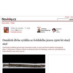 Osmiletá dívka vytáhla ze švédského jezera 1500 let starý meč– Novinky.cz