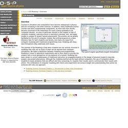OSP EJS Modeling Overview