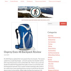 Osprey Exos 48 Backpack Review