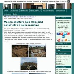 Maison ossature bois plain-pied construite en Seine-maritime