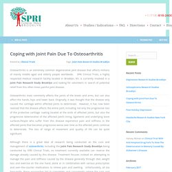 Joint Pain Research Studies in Brooklyn, NYC - SPRI Clinical Trials