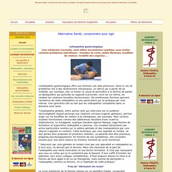 Ostéopathie & gynécologie aussi