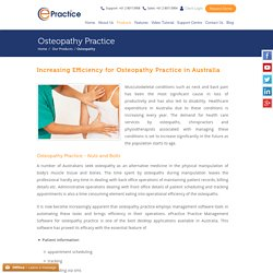 Buy Practice Management Software Osteopathy in NSW