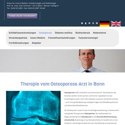 Osteoporose Arzt in Bonn