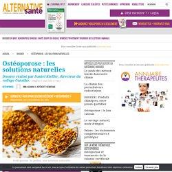 Ostéoporose : les solutions naturelles