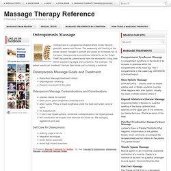 Osteoporosis Massage