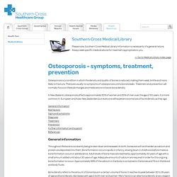 Osteoporosis - symptoms, treatment, prevention