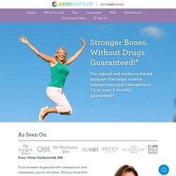 Osteoporosis Reversal Program - Save Our Bones