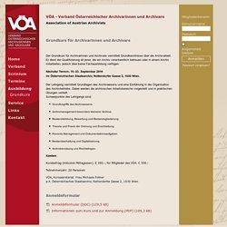 VÖA Grundkurs - Verband östereichischer Archivarinnen und Archivare