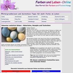 Ostereier natürlich färben - Materialen, Rezepte und Techniken