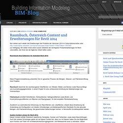 Raumbuch, Österreich Content und Erweiterungen für Revit 2014