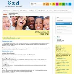 ÖSD Zertifikat A2<br>(ÖSD ZA2) - Österreichisches Sprachdiplom Deutsch ÖSD
