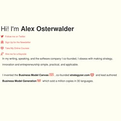 Alex Osterwalder on Business Model Innovation