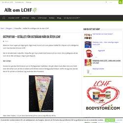 Ostpuffar - ett gott LCHF-snacks