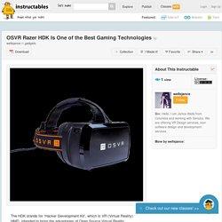 OSVR Razer HDK is one of the Best Gaming Technologies