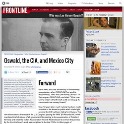 Oswald, the CIA, and Mexico City