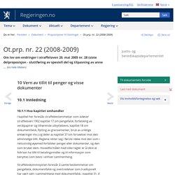 Ot.prp. nr. 22 (2008-2009) - regjeringen.no