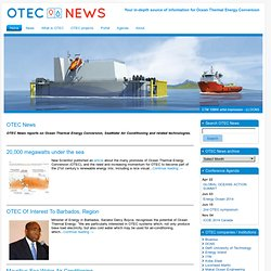 OTEC News - News about Ocean Thermal Energy Conversion (OTEC)