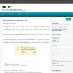 Ôter les protections d'un fichier Excel - CAPI-EARS