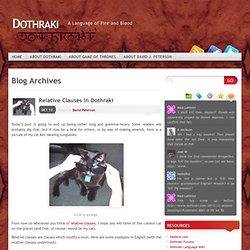 » other conlangs Dothraki