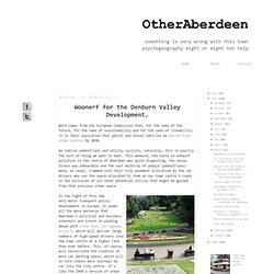 OtherAberdeen: Woonerf for the Denburn Valley Development.
