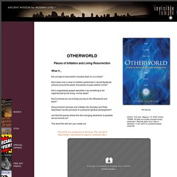 DVD, Otherworld: Places of Initiation and Living Resurrection by Freddy SIlva