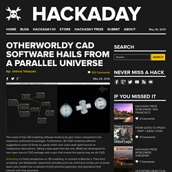 Otherworldy CAD Software Hails From A Parallel Universe