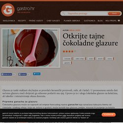 Otkrijte tajne čokoladne glazure - Chef savjeti - Gastro.hr