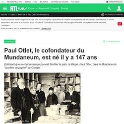 Paul Otlet, le cofondateur du Mundaneum, est né il y a 147 ans