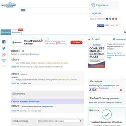 Otrora - significado de otrora diccionario