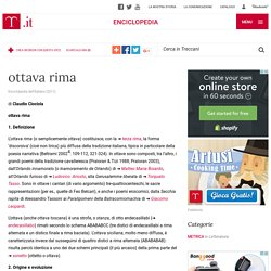 "ottava rima in ""Enciclopedia dell'Italiano"""