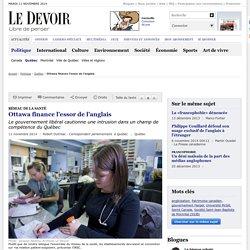 Ottawa finance l'essor de l'anglais