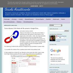 Come ottenere il link diretto dei file caricati in Google Drive.