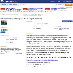 Ottieni online Patente di guida italiana registrata online