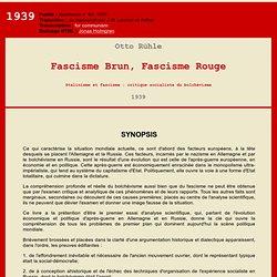 Otto Rühle: Fascisme Brun, Fascisme Rouge