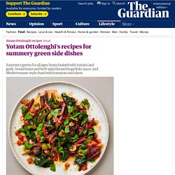 Yotam Ottolenghi's recipes for summery green side dishes
