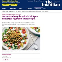 Spiced chickpea with fresh vegetable salad recipe
