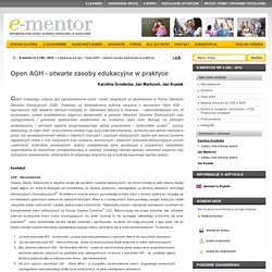 Open AGH - otwarte zasoby edukacyjne w praktyce