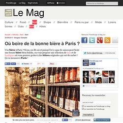 Où boire de la bonne bière à Paris ?