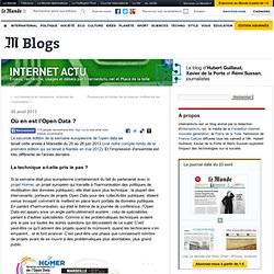 Où en est l'Open Data