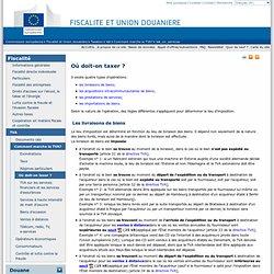 Où doit-on taxer ? - European commission