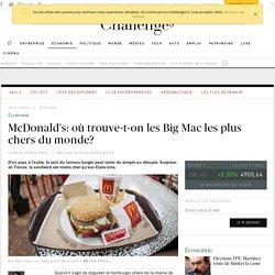 Où trouve-t-on les Big Mac les plus chers du monde?