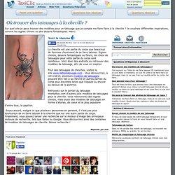 Où trouver des tatouages à la cheville ?