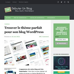 Où trouver un thème Wordpress