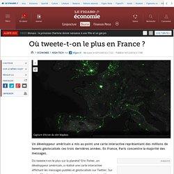 Où tweete-t-on le plus en France ?
