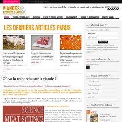 VIANDES ET PRODUITS CARNES 19/12/17 Où va la recherche sur la viande ?