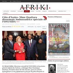 Côte d'Ivoire- Mme Ouattara désormais Ambassadrice spéciale de l'ONUSIDA