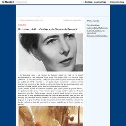 Un roman oublié : »l'invitée », de Simone de Beauvoir